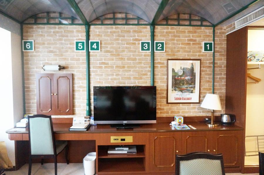トーマスルーム駅をテーマにしたお部屋