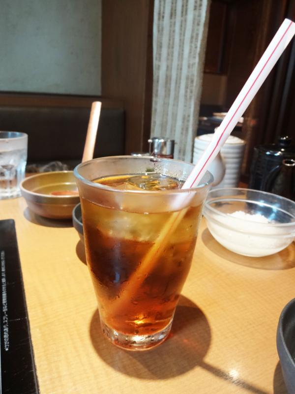 しゃぶしゃぶ温野菜の黒ウーロン茶