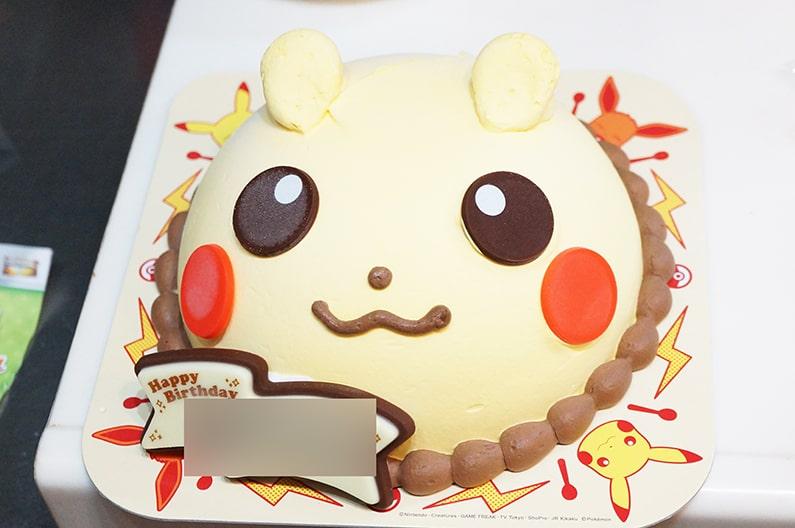 サーティーワンのピカチューアイスケーキ。かわいいポケモンアイス。